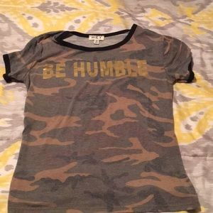 HEY collection Tops - Be Humble Ringer Tee
